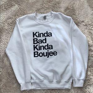Text Graphic Crew Sweater